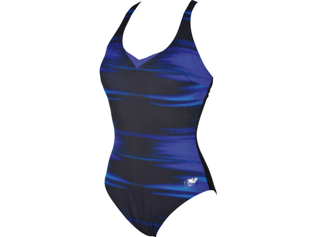 arena Kate Light Cross Back C-Cup One Piece Swimsuit Dames, bright blue-black